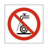 Do Not Use For Wet Grinding Symbol Sign | Safety-Label.co.uk