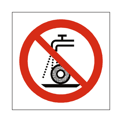 Do Not Use For Wet Grinding Symbol Label - Safety-Label.co.uk