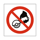 Do Not Use Hand Held Grinding Symbol Sign | Safety-Label.co.uk