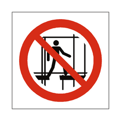 Do Not Use Incomplete Scaffold Symbol Label - Safety-Label.co.uk