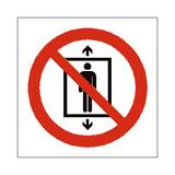 Do Not Use This Lift For People Symbol Sign | Safety-Label.co.uk
