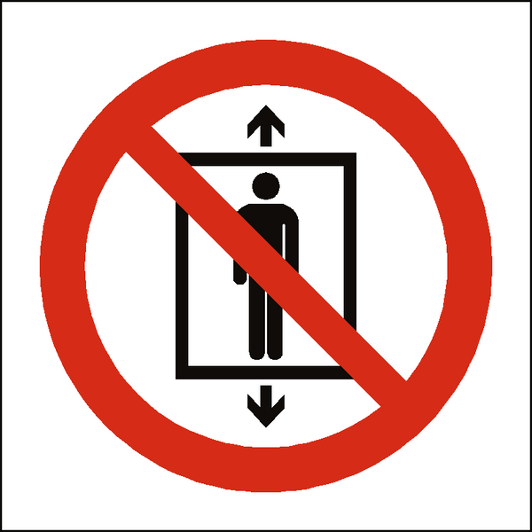 Do Not Use This Lift For People Symbol Label | Safety-Label.co.uk