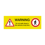 Pedestrian Warning Sign | Safety-Label.co.uk