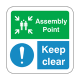 Assembly Point Keep Clear Floor Graphics Sticker | Safety-Label.co.uk