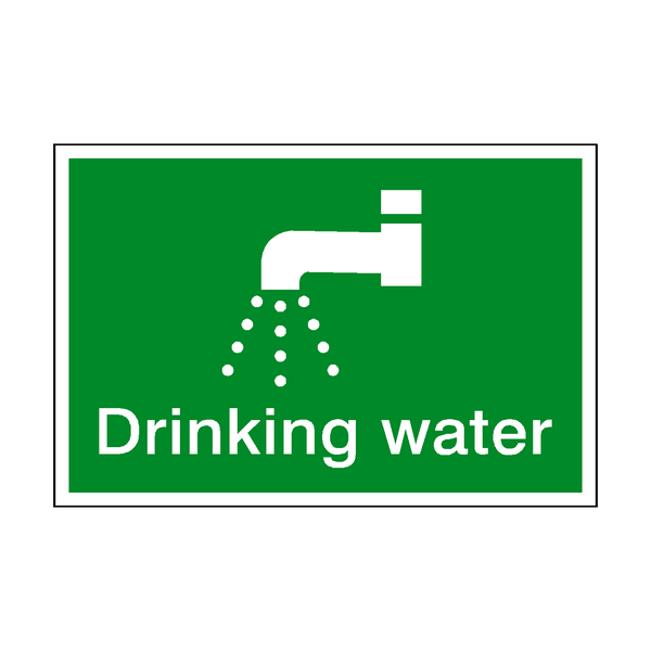 Drinking Water Sign - Safety-Label.co.uk