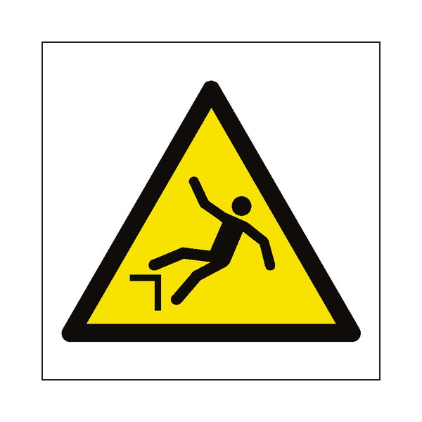 Drop Hazard Symbol Label | Safety-Label.co.uk