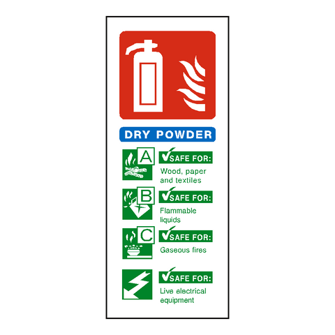 Dry Powder Fire Extinguisher Sign - Safety-Label.co.uk