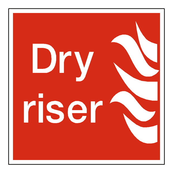 Dry Riser Sign - Safety-Label.co.uk