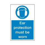 Ear Protection Mandatory Sign | Safety-Label.co.uk