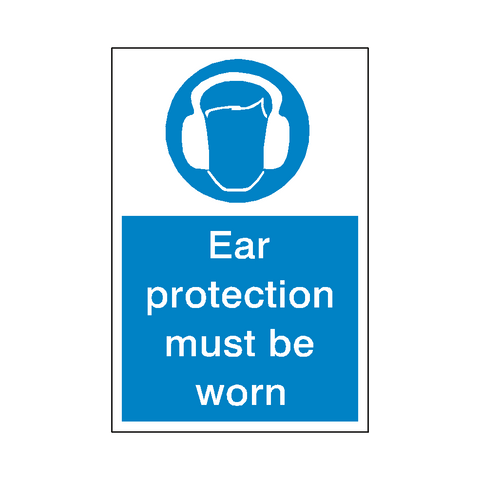 Ear Protection Sticker - Safety-Label.co.uk
