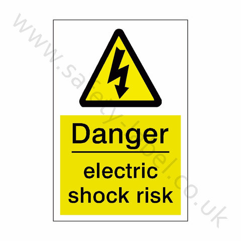 Electric Shock Risk Safety Sign - Safety-Label.co.uk