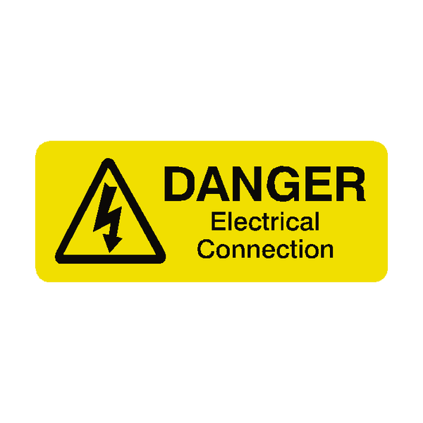 Electrical Connections Labels Mini - Safety-Label.co.uk