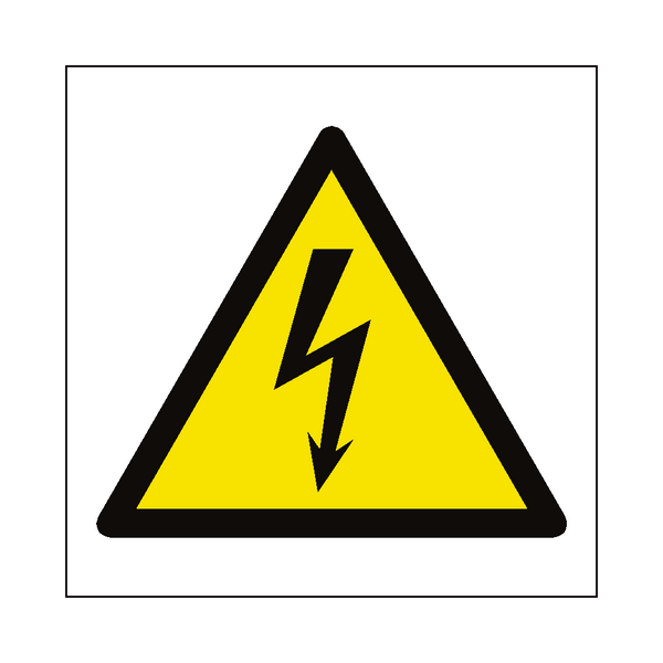 Electrical Hazard Symbol Sign - Safety-Label.co.uk