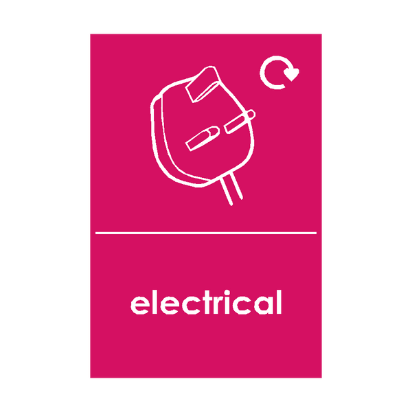 Electrical Waste Sticker - Safety-Label.co.uk