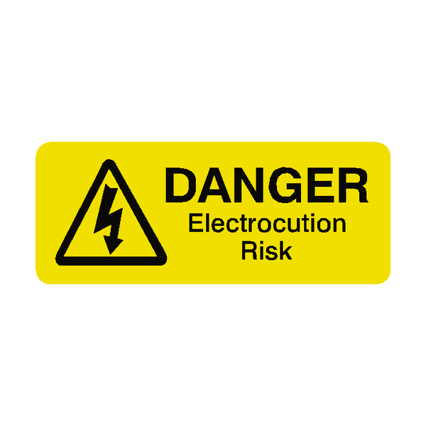 Electrocution Risk Labels Mini - Safety-Label.co.uk