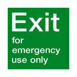 Emergency Exit Use Only Sign | Safety-Label.co.uk