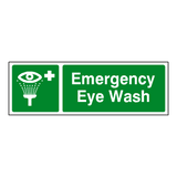 Emergency Eye Wash Label - Safety-Label.co.uk