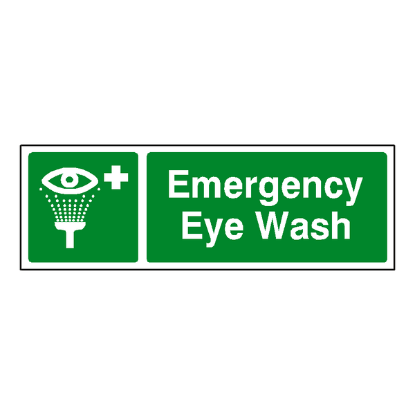 Emergency Eye Wash Label | Safety-Label.co.uk