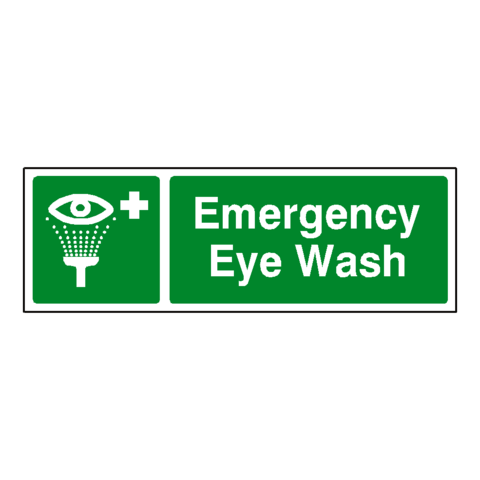 Emergency Eye Wash Sign | Safety-Label.co.uk