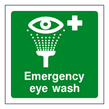 First Aid Emergency Eye Wash Sticker | Safety-Label.co.uk
