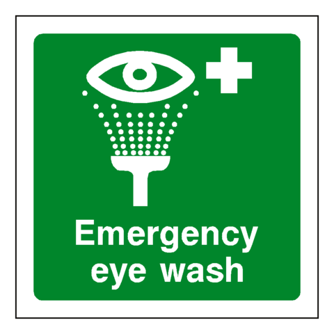 First Aid Emergency Eye Wash Sign - Safety-Label.co.uk