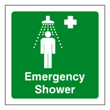 First Aid Emergency Shower Sticker | Safety-Label.co.uk