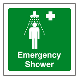 First Aid Emergency Shower Sign | Safety-Label.co.uk