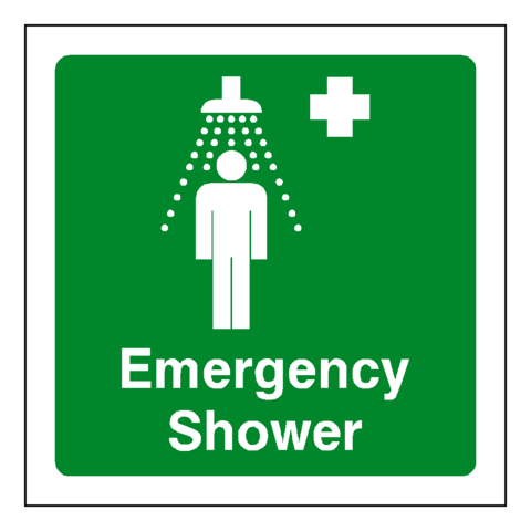 First Aid Emergency Shower Sign - Safety-Label.co.uk