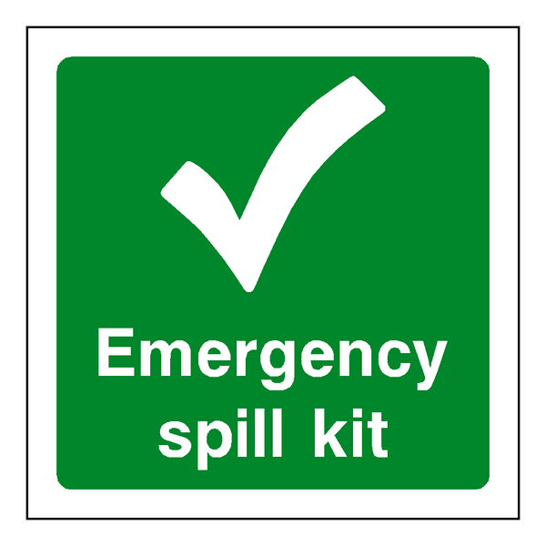 First Aid Spill Kit Sticker - Safety-Label.co.uk