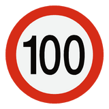 European 100 Kmh Speed Limit Sticker | Safety-Label.co.uk