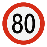 European 80 Kmh Speed Limit Sticker | Safety-Label.co.uk