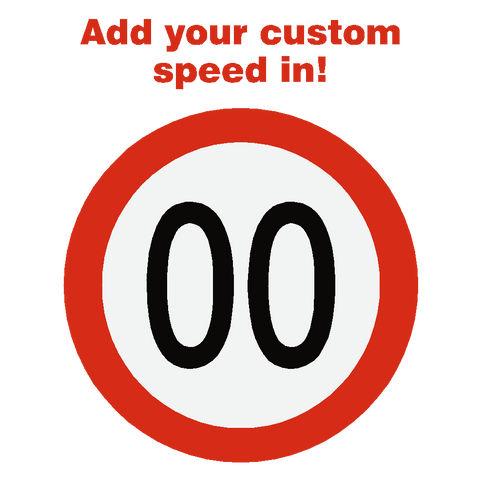 Custom European Kmh Speed Limit Sticker - Safety-Label.co.uk