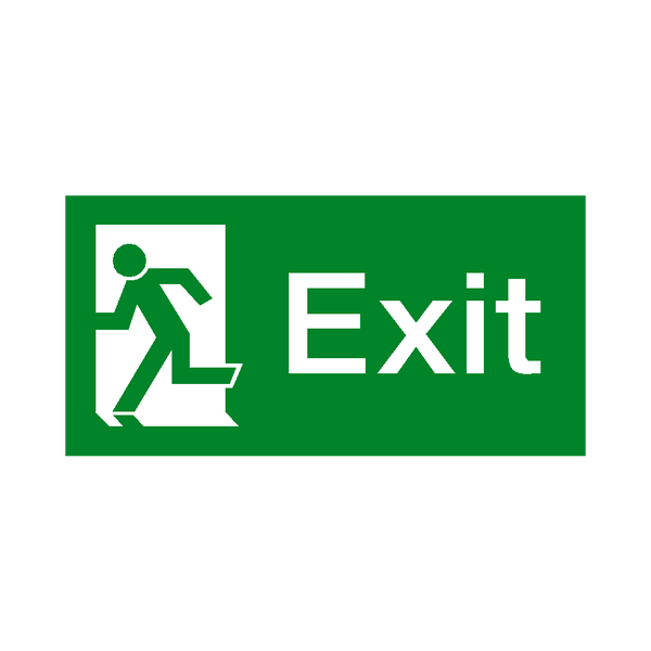 Exit Left Fire Exit Sign | Safety-Label.co.uk