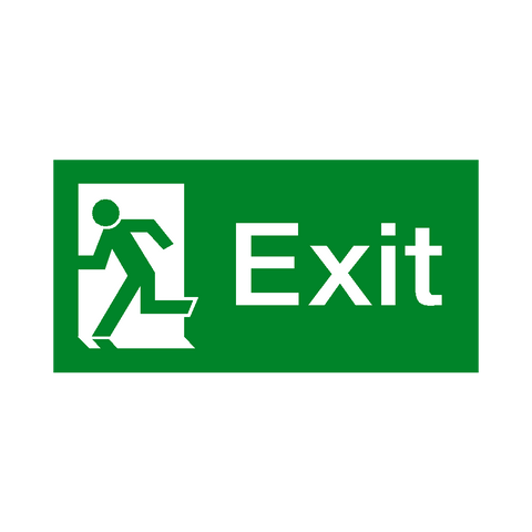 Exit Left Fire Exit Sign - Safety-Label.co.uk