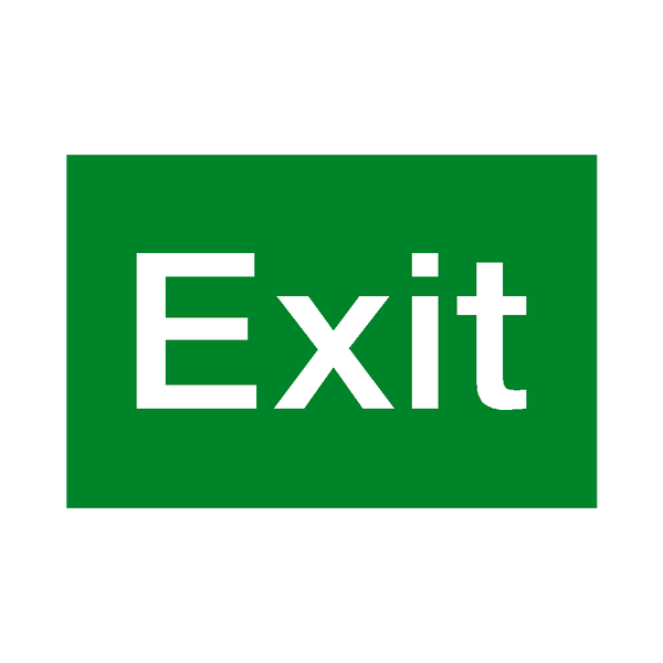 exit standard fire exit sign safety safety signs safety stickers safety labels. Black Bedroom Furniture Sets. Home Design Ideas