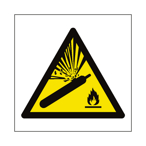 Explosive Material Symbol Label - Safety-Label.co.uk