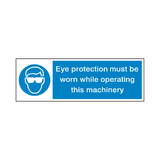 Eye Protection Machine Safety Sign | Safety-Label.co.uk