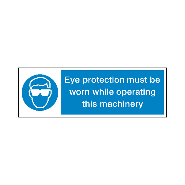 Eye Protection Machinery Label - Safety-Label.co.uk
