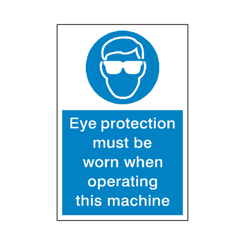 Eye Protection Machinery Sticker - Safety-Label.co.uk