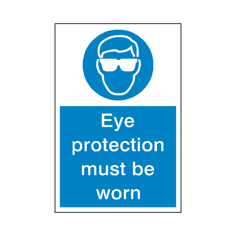 Eye Protection Mandatory Sign - Safety-Label.co.uk