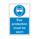 Eye Protection Sticker | Safety-Label.co.uk