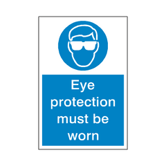 Eye Protection Sticker - Safety-Label.co.uk