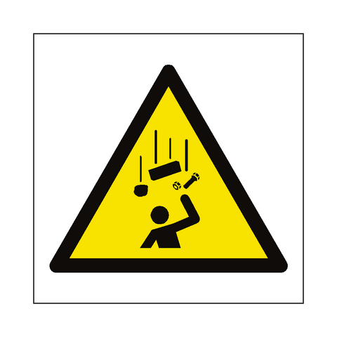 Falling Objects Hazard Symbol Label - Safety-Label.co.uk