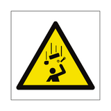 Falling Objects Hazard Symbol Sign | Safety-Label.co.uk