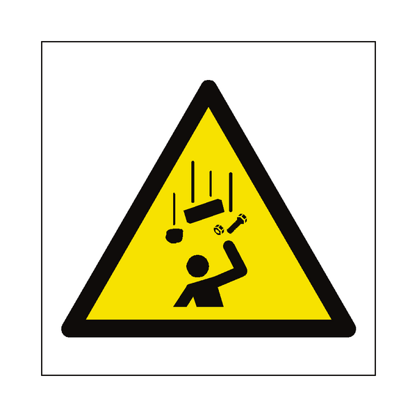 Falling Objects Hazard Symbol Sign - Safety-Label.co.uk