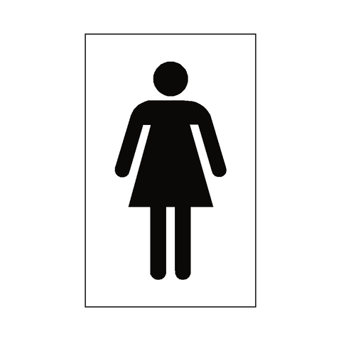 Female Toilet Mandatory Sign - Safety-Label.co.uk