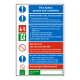 Hotel Fire Action Notice Sticker - Safety-Label.co.uk