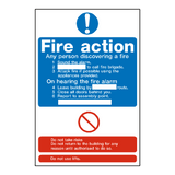 Fire Action Notice Sign | Safety-Label.co.uk