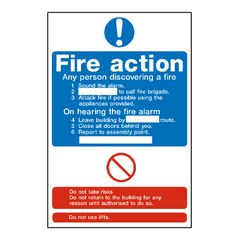 Fire Action Notice Sign - Safety-Label.co.uk