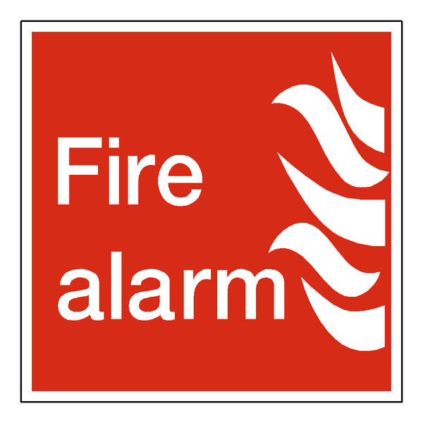 Fire Alarm Label Safety Label Co Uk Safety Signs